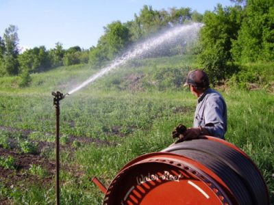 Guldan Family Farm watering