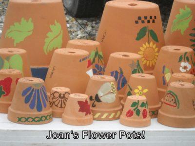 Market Bakery Joan's flower pots